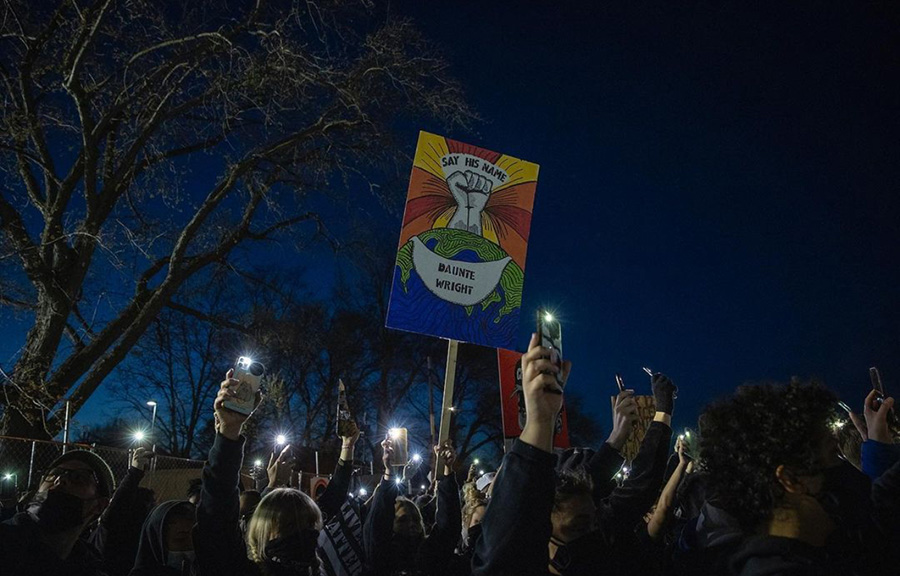 Protestors+gather+after+the+death+of+Daunte+Wright%2C+a+20-year-old+black+man+murdered+at+the+hands+of+police+on+April+11+in+Minneapolis.+Wright%E2%80%99s+death+took+place+only+weeks+after+the+death+of+Adam+Toledo%2C+a+13-year-old+Latino+boy+from+Chicago.+The+police+are+beginning+to+get+all+too+comfortable+when+it+comes+to+the+death+of+people+of+color.+Without+serious+police+reform%2C+these+BIPOC+deaths+will+only+increase.