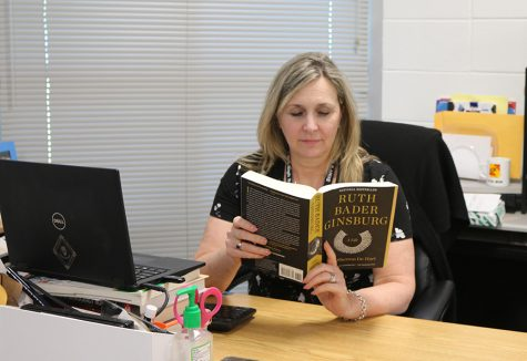 """U.S. history and AP government teacher Diane Ruane read """"Simple Justice"""" by Richard Kluger as part of an American law class in college. """"Simple Justice"""" takes a look at Brown v. Board of Education's decision to desegregate schools and the events and people played a part in their decision."""