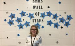 English teacher Jillian Bowen is the PBIS teacher of the month for August.  She was recognized for her responsibility as the English department chair and helping her fellow teachers.