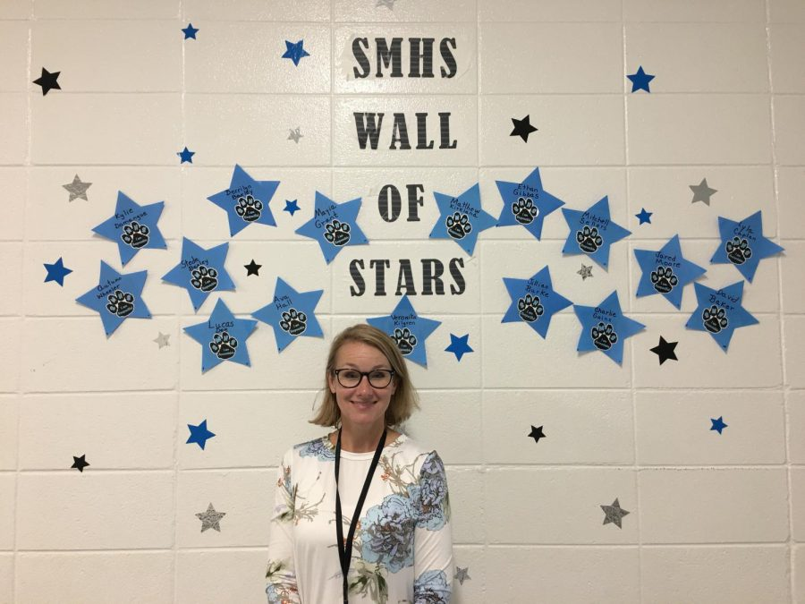 English+teacher+Jillian+Bowen+is+the+PBIS+teacher+of+the+month+for+August.++She+was+recognized+for+her+responsibility+as+the+English+department+chair+and+helping+her+fellow+teachers.+