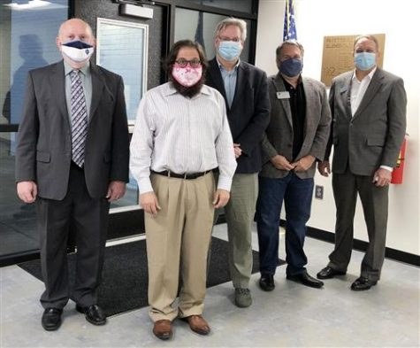 """Members of the 2020 Fayette County Board of Education pose wearing masks after being recognized as """"Exemplary"""" by the Georgia School Boards Association. Recent mandates imposed in Fayette County schools have caused quite a stir due to the complete disregard for parents' and students"""