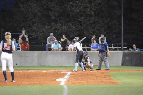 Panther batter awaits a pitch. Starr's Mill kept pace for the first two innings of the game. However, Northside scored a combined 15 runs in the third and fourth innings.