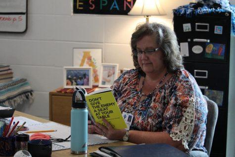 "Spanish teacher Laura Alldredge read ""Don"