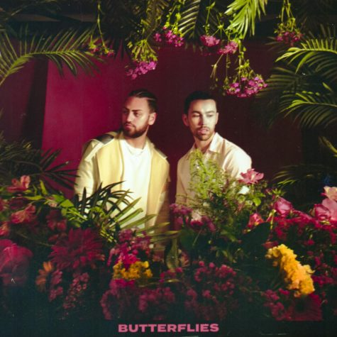 """Cover art for American singer-songwriter MAX's new single, """"Butterflies."""" The song features Iraqi-Canadian singer Ali Gaite and was created out of Max Schneider's decision to renew his vows with his wife. With a soulful and emotional feel, the song expresses what its like to fall in love over and over again from Schneider's point of view."""